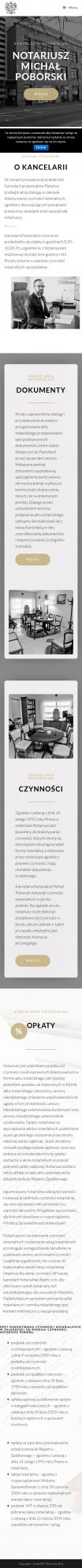 Screenshot 2019 11 04 Kancelaria Notarialna Michał Poborski – Kolejna Witryna Oparta Na WordPressie